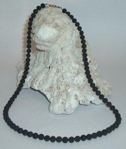 画像1: ブラックシリカ95%ネックレス6mm珠